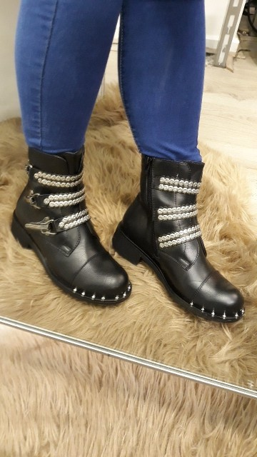Buckled Black Boots