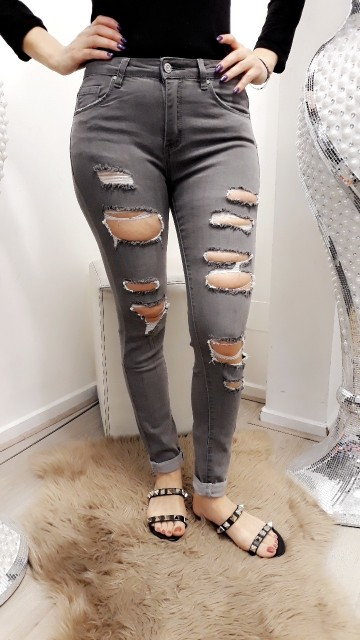 Ripped grey jeans