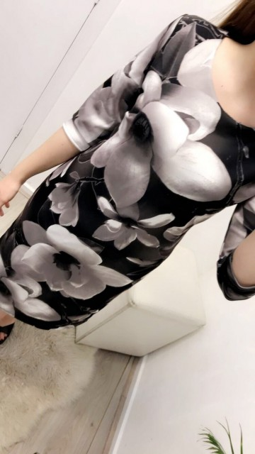 Formal Flower Pattered Dress