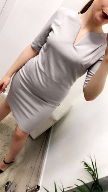 Light Grey Formal Bodycon Dress