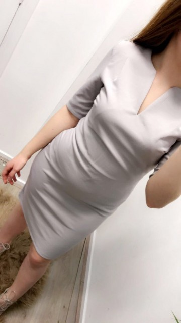 Grey Formal Bodycon Dress
