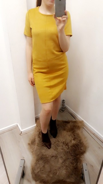 Yellow damesjurk