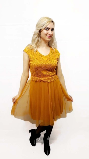Modern Tutu Dress Yellow