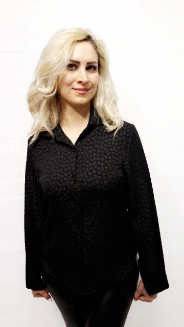 Black Dotted Blouse