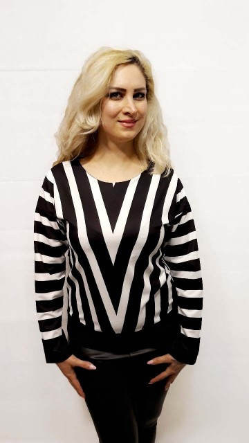 White Stripped Sweater