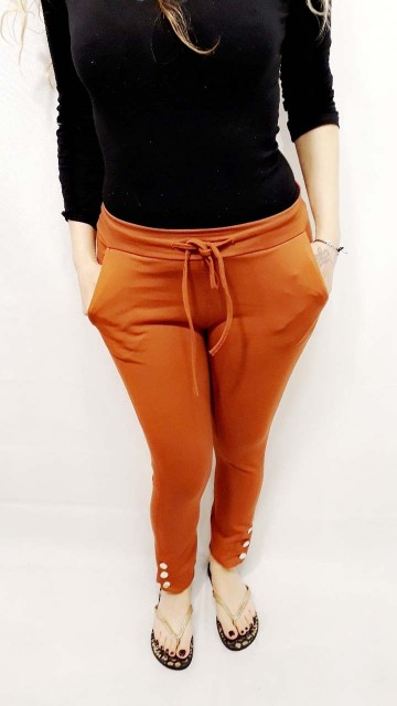 Orange Tight Jogger