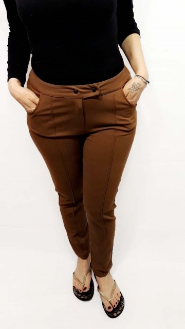 Brown Button Pants