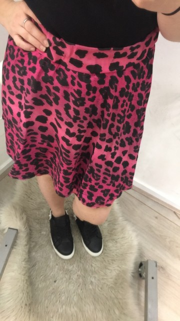 Leapard Skirt Pink