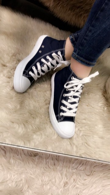Dark Blue Angle Sneakers