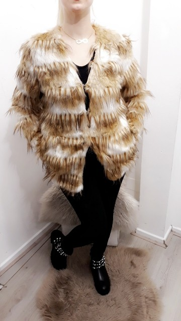 Faux Fur Coat Light