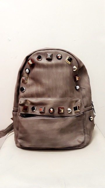 Grey Studded Bag
