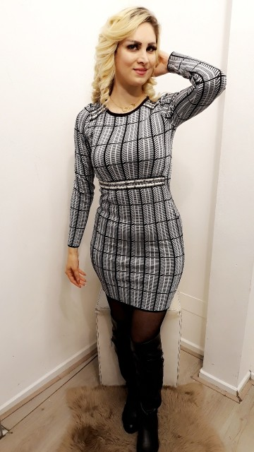 Plaid Dress Zilver