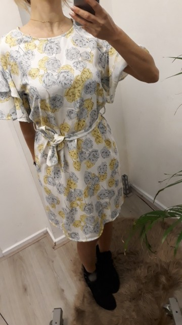 Tango Yellow Flower Dress