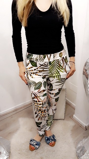Broek jungle vibes -Wit