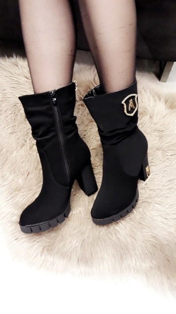 Golden Touch Boots Velvet