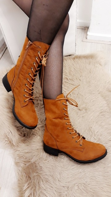 Velvet Brown High Ankle Boots