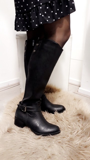 High black boots