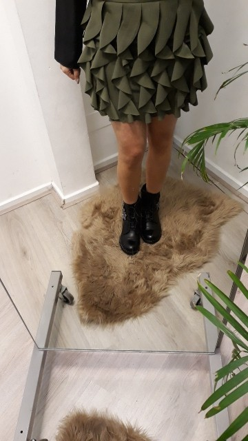 Fluffy Green Skirt