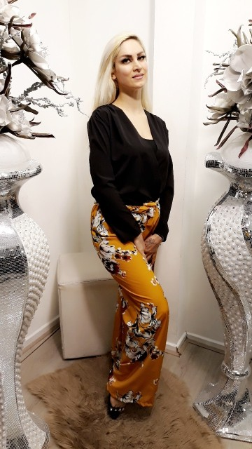 Yellow flower pants