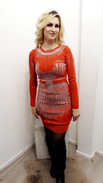 Red Christmas Jewel Dress
