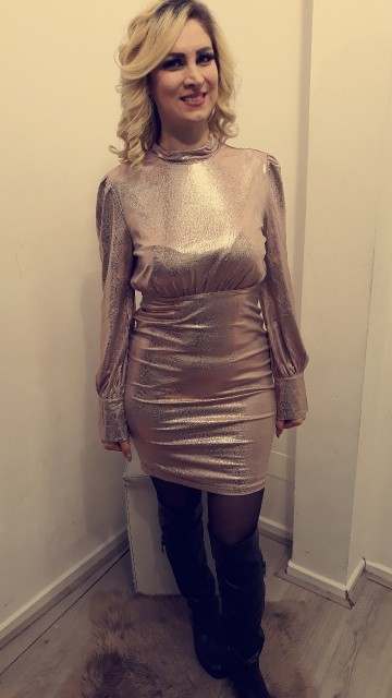 Champagne Queen Dress