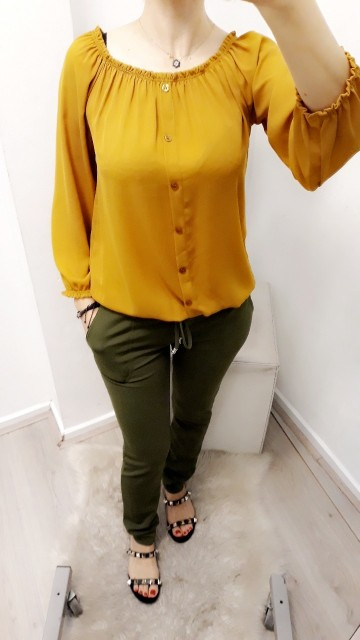 Basic Yellow Blouse