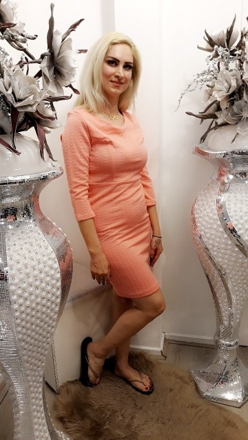 Salmon Pink Pretty Dress
