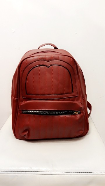 Small Burgundy Red Backpack
