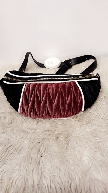 Purple Velvet Fanny Pack