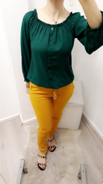 Basic Green Blouse