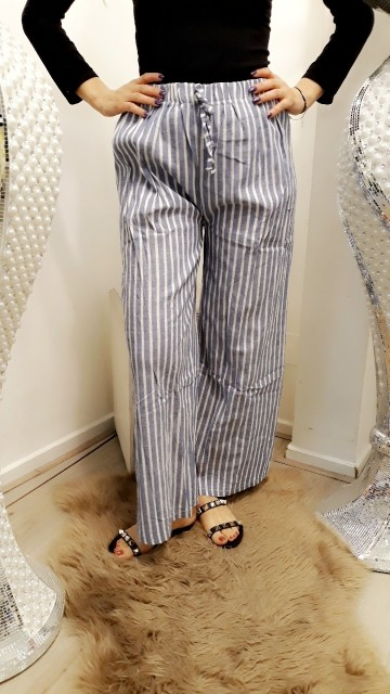 Striped pants -blue