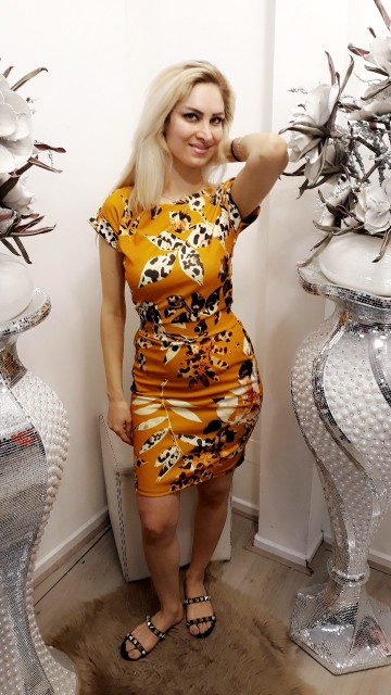 Yellos flower dress