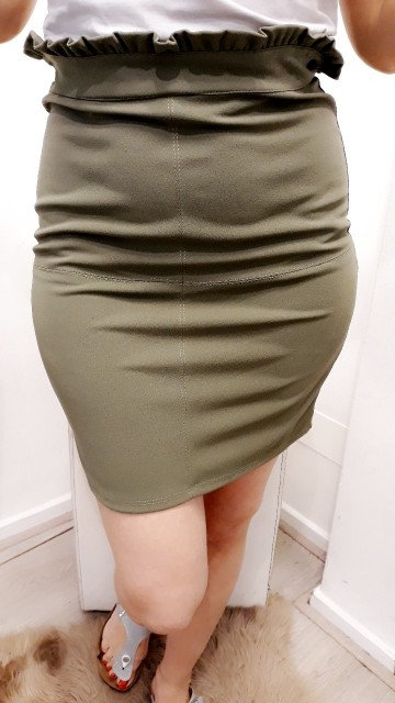 Army Green Pencil Skirt