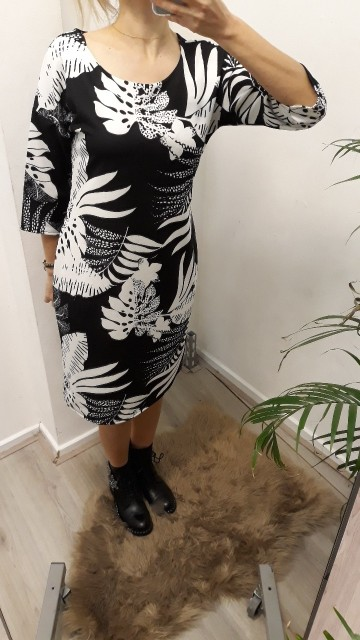 Black/Wite Bodycon Dress