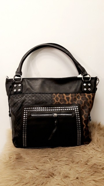 Leopard Leather Handbag