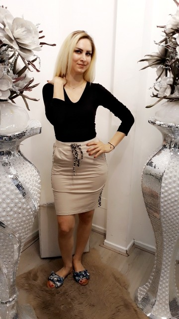 Beige tiger skirt