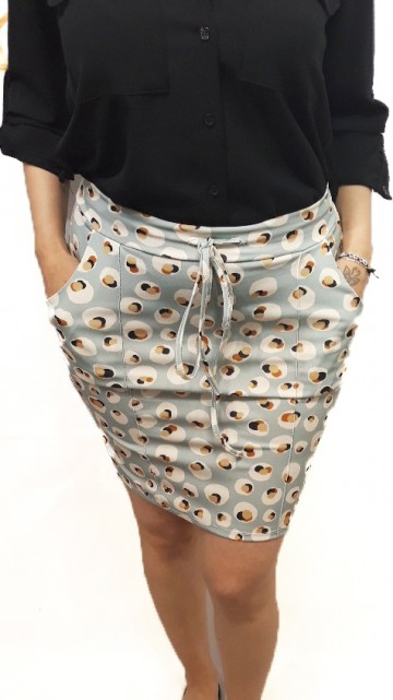 Retro Skirt Blue