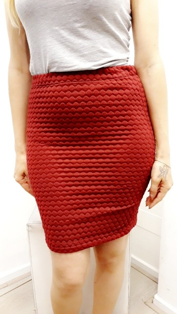 Red Fall Skirt