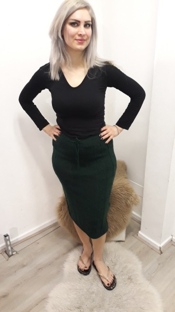 Green Knitted Skirt