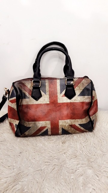 English Flag Bag Black
