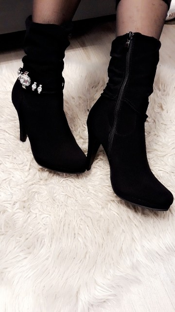 Bling Black Boots
