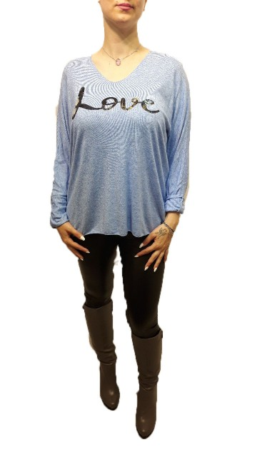 Love Sweater Blauw