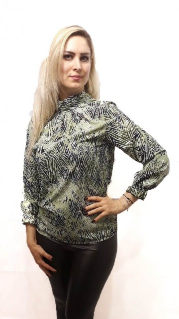 Green Pattern Blouse