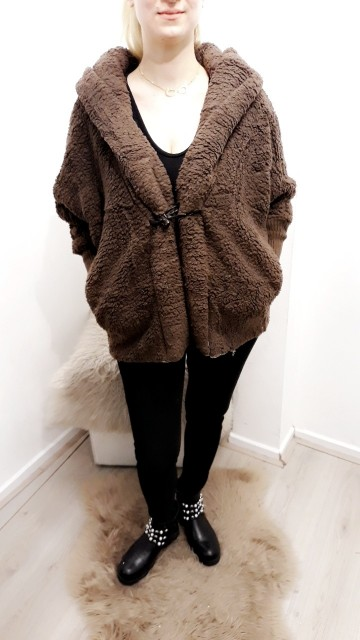 Brown Teddy Vest