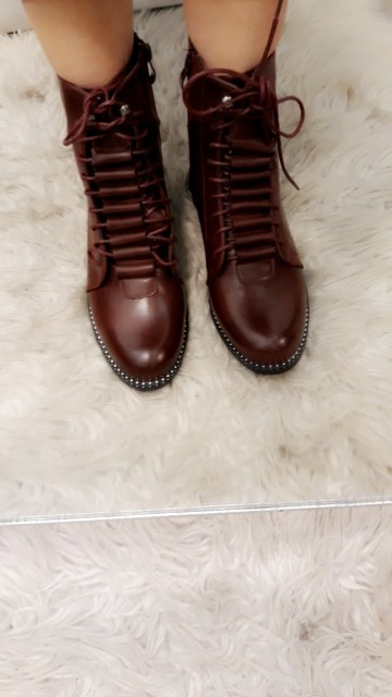 Red Boots met veters