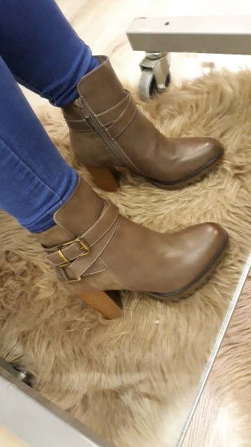 Light Brown Heel Boots