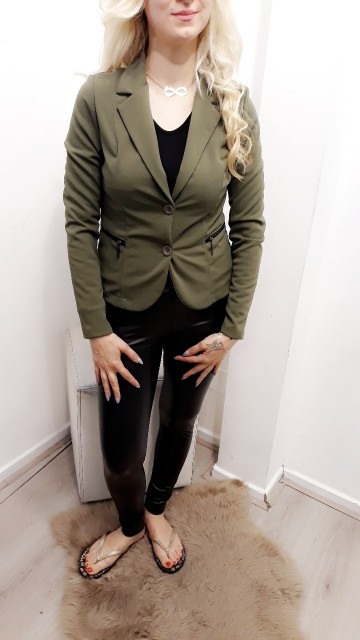 Zipped Blazer Green