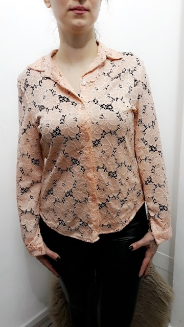 Pink Flower Blouse